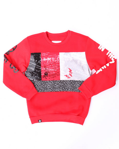 Akademiks - Boys Red Cut & Sew Go Hard Sweatshirt (8-20)