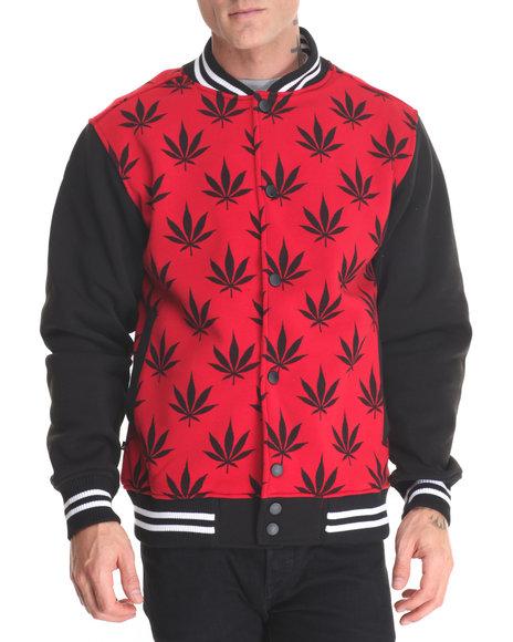 Buyers Picks Men Mj Leaf Varsity Jacket Black X-Large