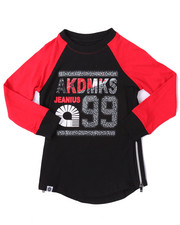 Akademiks - ELONGATED L/S ELEPHANT PRINT LOGO TEE (4-7)