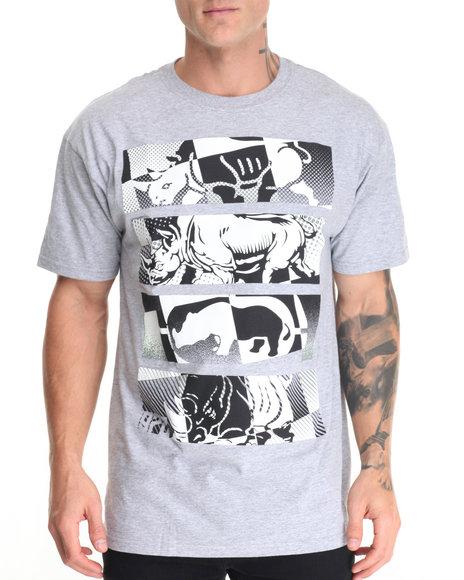 Ecko - Men Grey Stacked Rhino T-Shirt - $19.50
