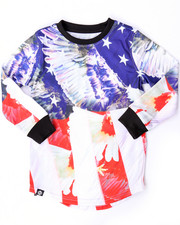 Akademiks - ELONGATED L/S AMERICANA TEE (4-7)