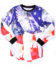 Akademiks - ELONGATED L/S AMERICANA TEE (8-20)