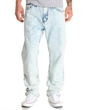 Men - Bleached Out Washed Denim Jeans