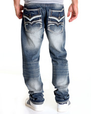 Men - Thick - Stitch Flap - Pocket Denim Jeans