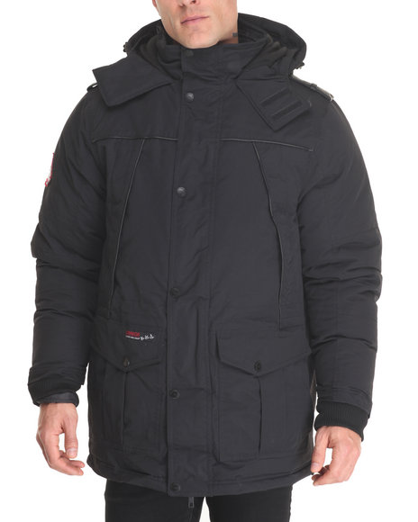 Buyers Picks Men Contrast Stitch Heavy Weight Jacket Black Large