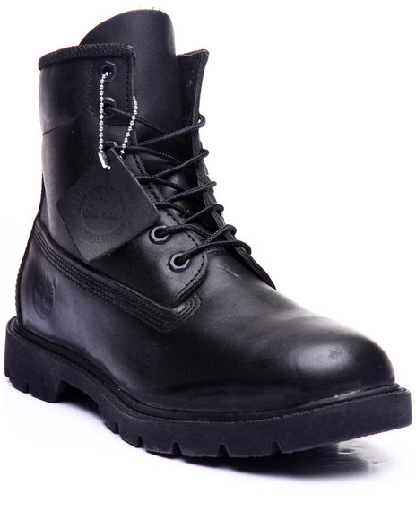 Timberland - Men Black Timberland Icon Smooth Black 6 - Inch Basic Boots