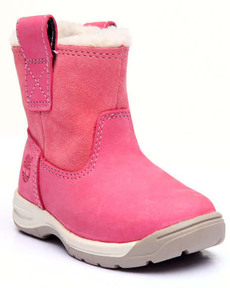 Timberland - Girls Pink Timber Tykes Warm Lined Pull-On Boot (4-12)