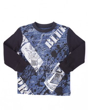 T-Shirts - L/S BLUEPRINT TEE (4-7)