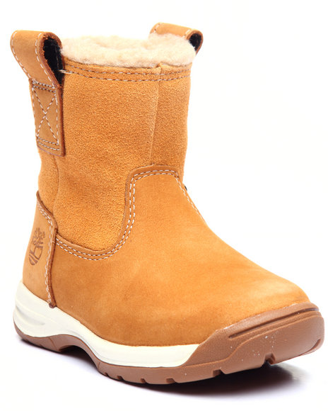 Timberland - Girls Wheat Timber Tykes Warm Lined Pull-On Boot (4-12)