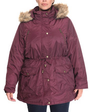 "Outerwear - Nylon 30"" Parka  w/ Fur Trim Hood (Plus size)"