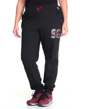 Bottoms - Varsity Sport Drop Crotch Slouch Jogger (Plus)
