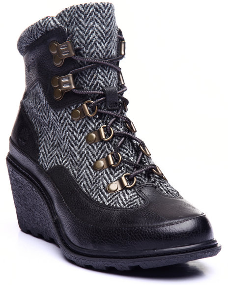 Timberland - Women Black Amston Hiker Wedge Boots