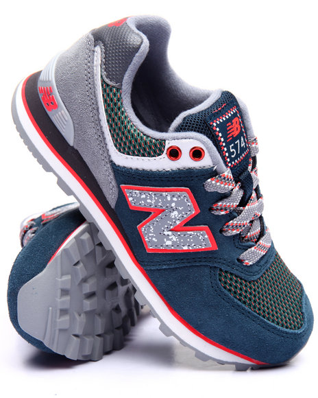 New Balance - Boys Navy 574 Outside In Collection Sneakers (11-3)