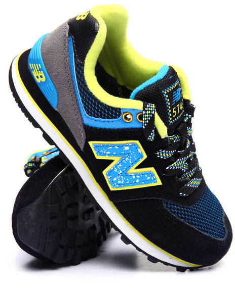 New Balance - Boys Black 574 Outside In Collection Sneakers (11-3)