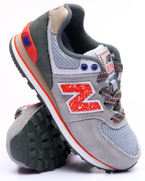 New Balance - Boys Grey 574 Outside In Collection Sneakers (11-3)