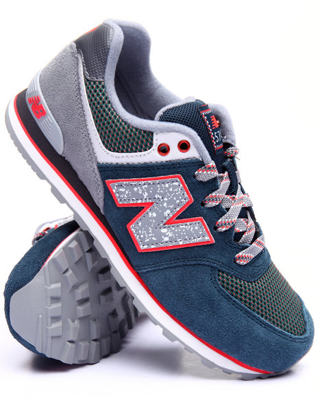 New Balance - Boys Navy 574 Outside In Collection Sneakers (3.5-7)