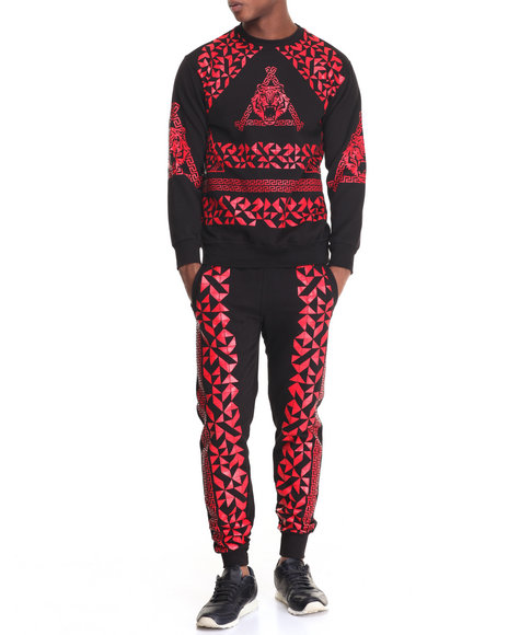 Buyers Picks - Men Red Knight Fleece Set
