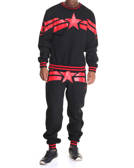 Buyers Picks - Men Black Streetz Iz Watching Capt A Fleece Set