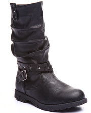 Girls - SLOUCH STUD WRAP BOOTS (11-4)