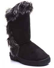 Grade School (5 yrs+) - TOP TALL FAUX FUR TRIM BOOTS (11-4)