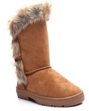 La Galleria - TOP TALL FAUX FUR TRIM BOOTS (11-4)