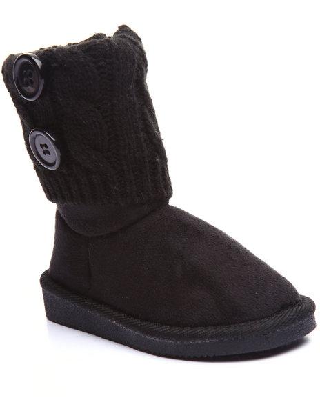La Galleria - Girls Black Sweater Booties (5-10)