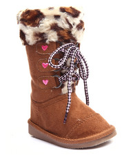 Boots - LEOPARD FAUX FUR LACE UP BOOTS (5-10)