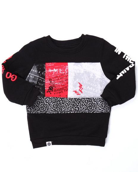 Akademiks - Boys Black Cut & Sew Go Hard Sweatshirt (2T-4T)