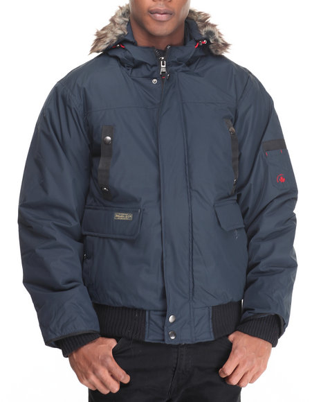 Basic Essentials - Men Navy Appalachian Puffer Jacket