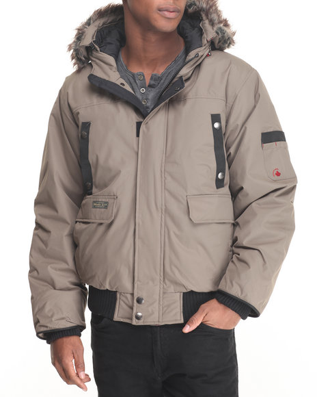 Basic Essentials - Men Khaki Appalachian Puffer Jacket