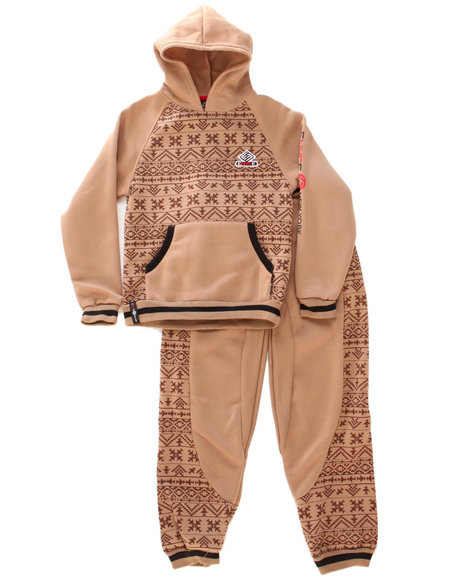 Enyce - Boys Khaki Tribal Hoody & Jogger Set (8-20)