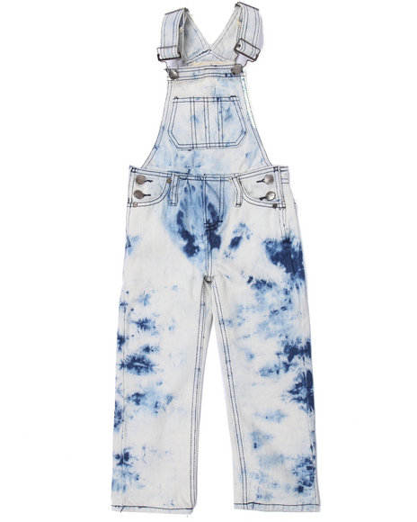 Arcade Styles - Boys Light Wash Ice Wash Overalls (4-7) - $22.99