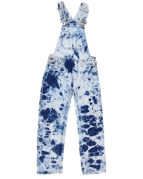 Arcade Styles - Boys Light Wash Ice Wash Overalls (8-20)