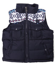 Vests - ARKTIK SWEATER TRIM PUFF VEST (2T-4T)