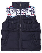 Vests - ARKTIK SWEATER TRIM PUFF VEST (4-7)