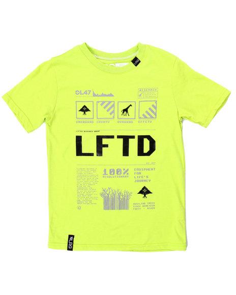 Lrg - Boys Lime Green 100% Resolutionary Tee (8-20)