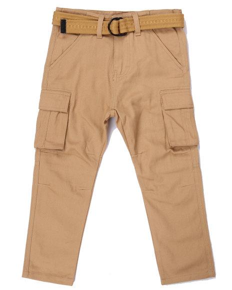 Arcade Styles Boys Tapered Leg Twill Cargo Pants (47) Khaki 5