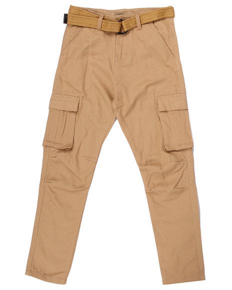 Arcade Styles Boys Tapered Leg Twill Cargo Pants (820) Khaki 8