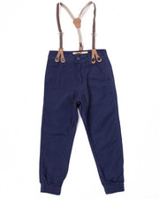 Bottoms - TWILL JOGGER W/ SUSPENDERS (4-7)