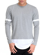 Men - L/S Color Block Tee