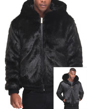 Men - Faux Mink Reversible Zip Hoodie