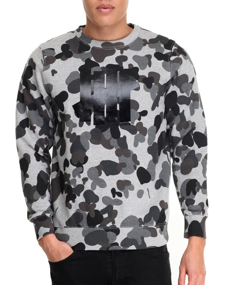 Undftd - Men Camo 5 Strike Crewneck Sweatshirt