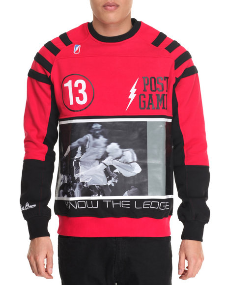 Post Game - Men Red Know The Ledge Crewneck Sweatshirt - $49.99