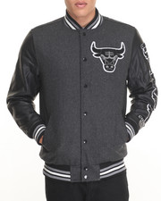 NBA, MLB, NFL Gear - Chicago Bulls Scorch Wool Varsity Jacket