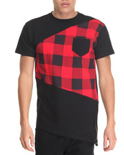 T-Shirts - Buffalo Check Cut-Sew Tee