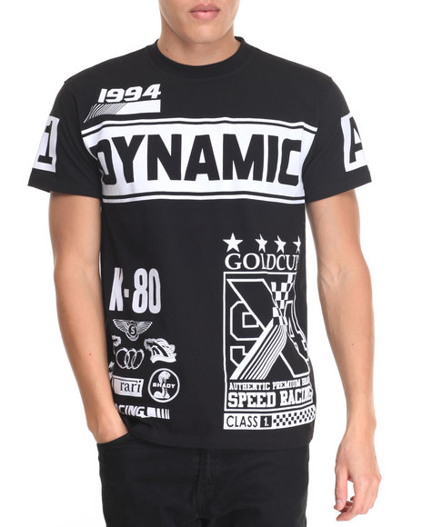 Buyers Picks - Men Black Dynamic Racing Tee