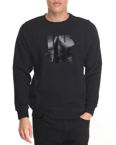 Undftd - Men Black 5 Strike Crewneck Sweatshirt