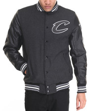 NBA, MLB, NFL Gear - Cleveland Cavaliers Scorch Wool Varsity Jacket