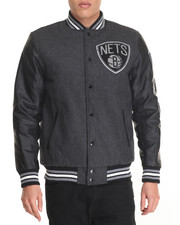Outerwear - Brooklyn Nets Scorch Wool Varsity Jacket