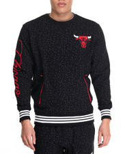 NBA, MLB, NFL Gear - Chicago Bulls Speckle Fleece crewneck sweatshirt